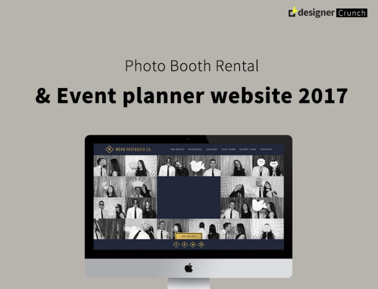 Photo Booth Rental & Event Planner Website 2018