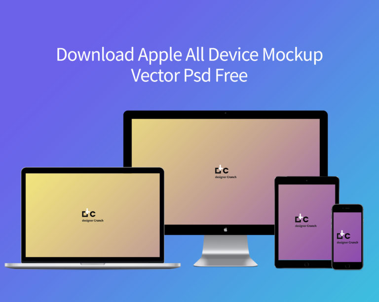 Modern Corporate Apple All Device Mock-up Psd Free
