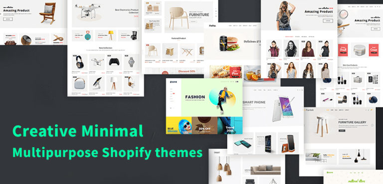Top Creative Minimal Multipurpose Shopify themes of the year