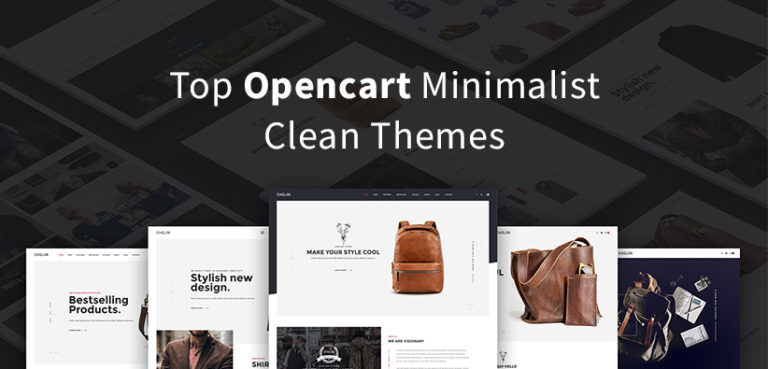 Top Opencart Minimalist clean theme of the year