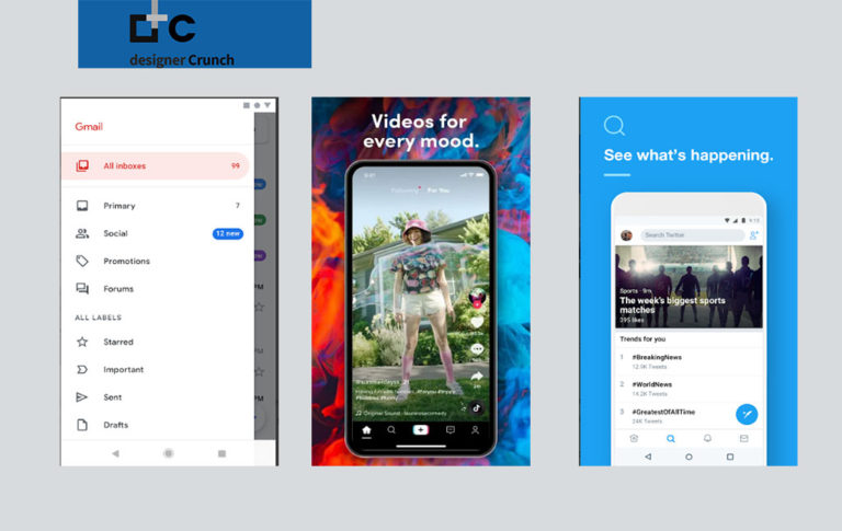 There are lots of apps on the different app store platforms, its hard to define the latest design trend but it's significantly easier to pick the biggest apps with the latest design trends.